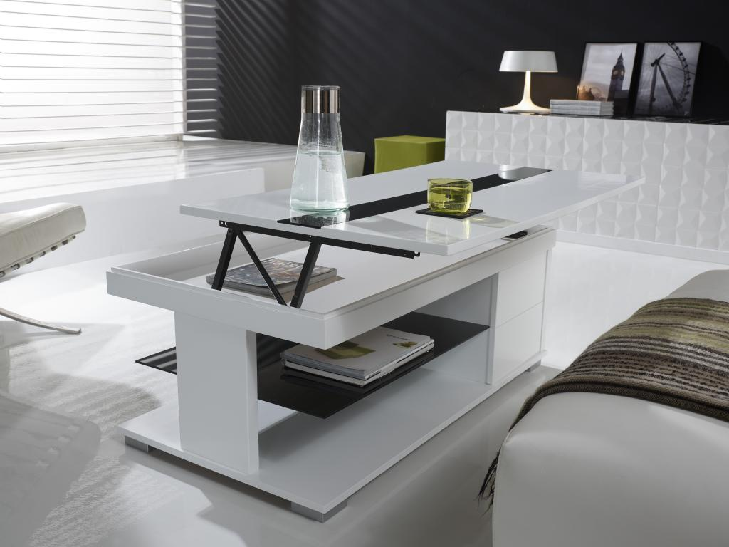 Quelle table basse relevable choisir pour son salon - Table de salon plexiglass ...