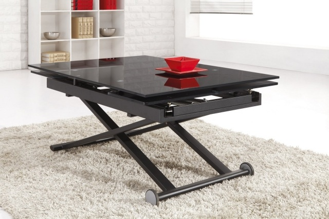 Quelle table basse relevable choisir pour son salon - Table de salon modulable ...
